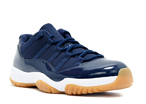 Nike Air Jordan 11 Retro Low, Zapatillas de Baloncesto para Hombre, Azul (Midnight Navy/White-Gum Light Brown), 41 EU