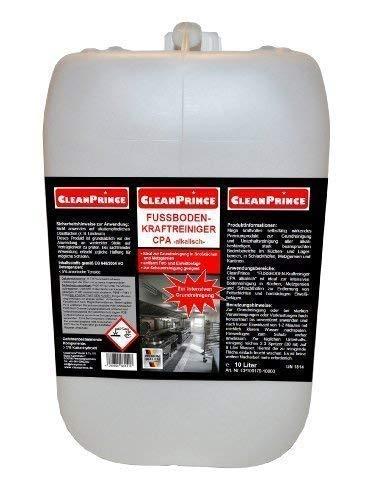 Cleanprince 10 Liter Kanister Fußboden Kraft - Reiniger alkalisch CPA | ein alkalisches Reinigungsmittel Gastronomie Grundreinigung stark beanspruchte Bodenbereiche Küche Metzgerei Lebensmittelbereich