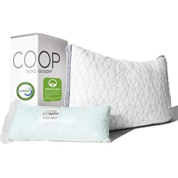 Coop Home Goods Eden Bed Pillow for Sleeping - Plush and Luxurious Cross-Cut Memory Foam Pillow with Lulltra Washable Cover from Bamboo Derived Rayon - CertiPUR-US/GREENGUARD Gold Certified - Queen