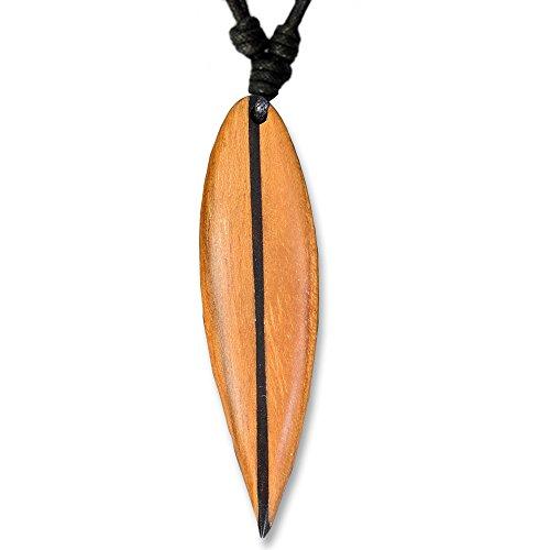viva-adorno Cadena Tabla de Surf Colgante de Madera Banda Tablista Cadena Longitud Ajustable Varios Diseños Seleccionable HK30-5 Braun
