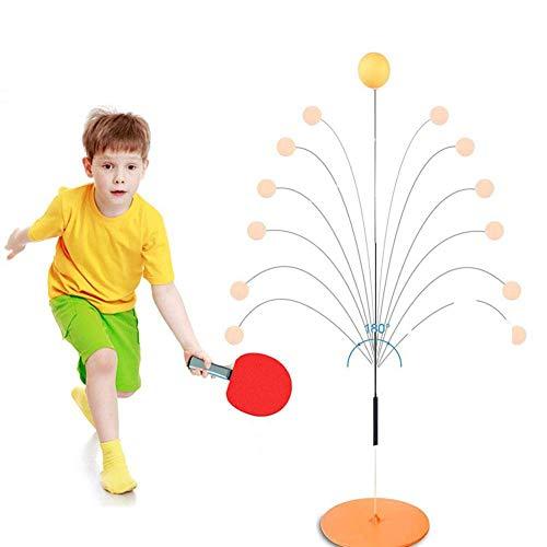 libelyef Tischtennis Trainer Mit Weichem Schaft Tragbares Tischtennis-Set Mit 2 Schlägern Und 3 Übungsbällen Für Selbsttraining/Freizeit/Dekompression/Kind Indoor Outdoor Spielen (#001)