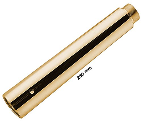 Wacces 250mm Gold Dance Pole Extension for 45mm Dance Pole Fitness Spinning Exercise