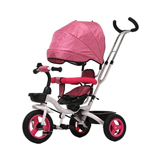 Triciclo Triciclo triciclo triciclo triciclo, triciclo doble multifunción, triciclo para niños con asiento giratorio de dos vías, bicicleta para bebés al aire libre de tres ruedas, 2 colores, 107x78x