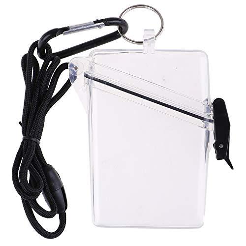 OBANGONG 3 Pcs Sport Waterproof ID Card Badge Holder Case Waterproof Sports Case Vertical Badge Holders with Lanyard and Keychain Photo #7