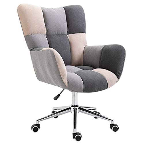 Ergonomischer Bürostuhl Home Office Stuhl Ergonomischer Computerstuhl Moderner Arbeitsstuhl Schlafzimmer Einfachheit Kleiner Sofastuhl Chaise Longue Lazy Fabric Chair mit Schwamm
