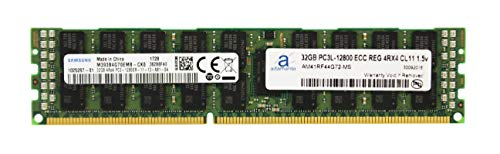 Adamanta 32GB (1x32GB) Memory Upgrade Compatible for Late 2013 Apple Mac Pro Samsung Original DDR3 1600Mhz PC3-12800 ECC Registered 4Rx4 CL11 1.5v RAM DRAM