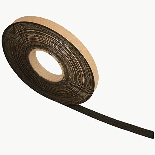 JVCC FELT-06 Polyester Felt Tape [1mm thickness felt]: 3/4 in. x 75 ft. (Black)