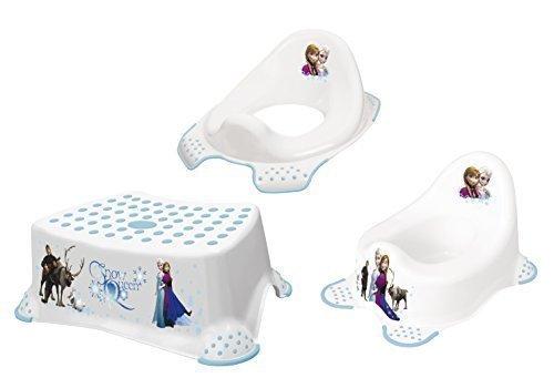 Lot de 3 Disney Reine des Neiges Pots + Toilette+Tabouret Neuf