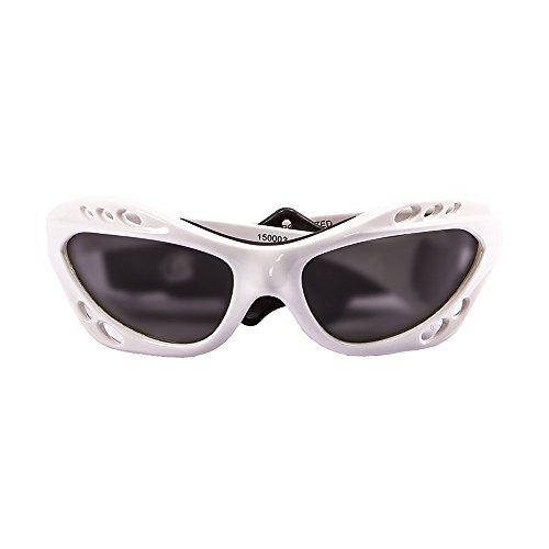 Ocean Sunglasses Cumbuco - Gafas de Sol polarizadas - Montura : Blanco Brillante - Lentes : Ahumadas (15000.3)