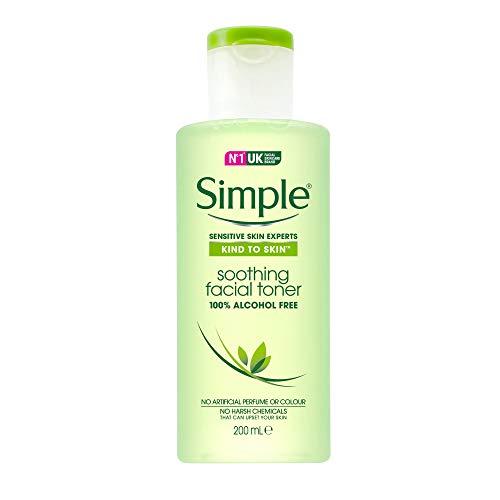 Simple KIND TO SKIN Soothing UK's #1 Gesichtshaut Pflegemarke * Gesichtswasser alkoholfrei 200ml