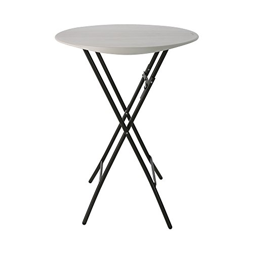 Lifetime Table Pliante de Bistro 0,84 m, Ronde, Blanche