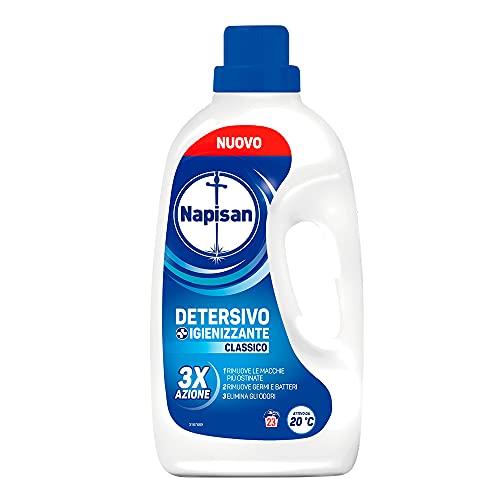 Napisan Detergente líquido para lavadora, detergente higienizante, clásico, 23 lavados – 1178 g