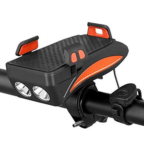 FYLY-3500 mAh USB Wiederaufladbar Fahrrad Handyhalterung, Wasserdicht Fahrrad Lenker Handyhalter, Mit 130 dB Horn und Bike Light, Für 4.0