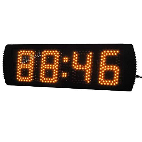 HYY-AA Reloj LED de gran tamaño entrenamiento de la aptitud de cuenta atrás del temporizador de intervalos Gimnasio pared con los despertadores electrónicos de control remoto (Color: Negro, Tamaño: 49