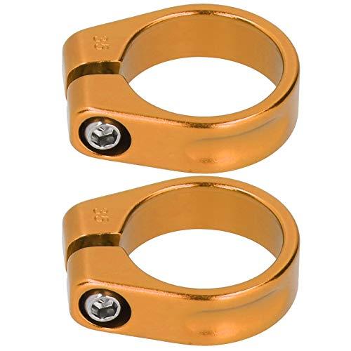 SALUTUYA Aleación de Aluminio de la Abrazadera de la tija de sillín de la Bicicleta del Clip del Tubo del Asiento de Bicicleta, para Otras Bicicletas(Golden)