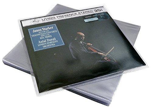 CUIDATUMUSICA 25 Fundas Exteriores PVC Deluxe para Discos de Vinilo LP/Ref.2988
