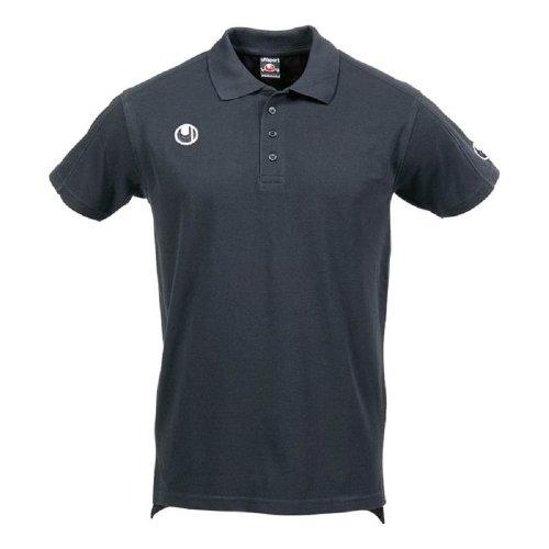 uhlsport Polo-Hemd Klassik Shirt, Schwarz, XL