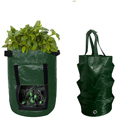 Iwähle Plant Growing Bag Abbaubare Anzuchttöpfe Potato Strawberry Grow Planter Planting Container Bag Multi-Mouth Container Bag