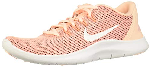 Nike Women's WMNS Flex 2018 Rn Competition Running Shoes, Multicolour Crimson Tint White Pink Tint 000, 3 UK
