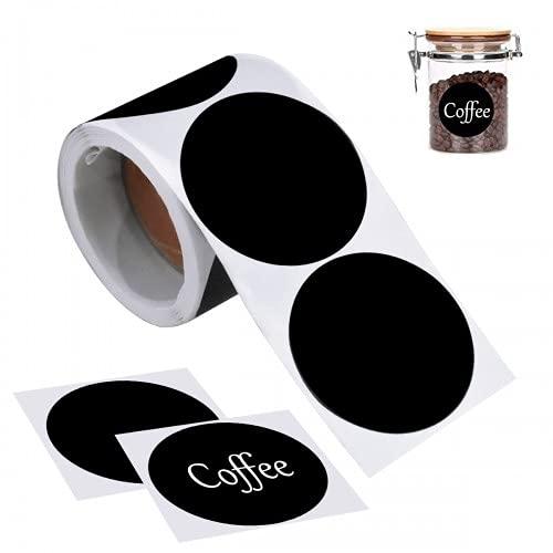 Etiquetas Adhesivas Redondas Negras Marca Pinsheng