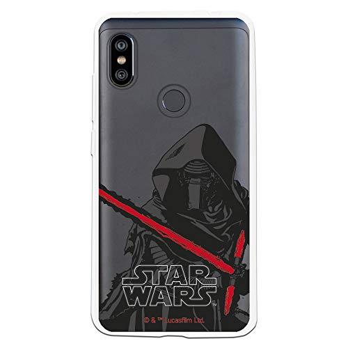 Funda para Xiaomi Redmi Note 6-Note 6 Pro Oficial de Star Wars Kylo REN Espada para Proteger tu móvil. Carcasa para Xiaomi de Silicona Flexible con Licencia Oficial de Star Wars.
