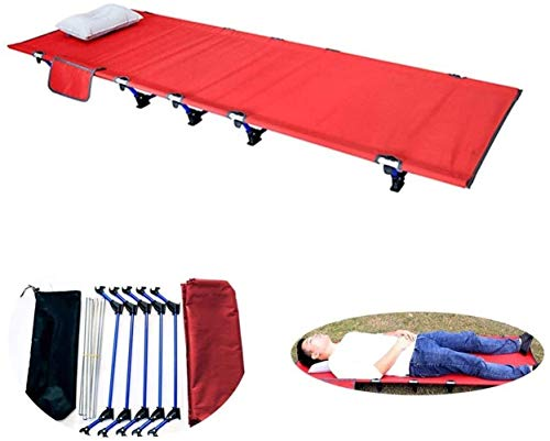 Furniture Decoration Camping Cot Portable Folding Reclining Lounger Beach Bed Cot Chair Supports 300 Pounds 7075 Aluminum Bracket+60D Oxford Cloth Plastic Parts Nylon Material (Size : XS)