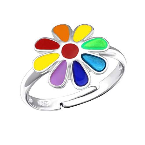 Retro Styler Regenbogen-Blumen-Ring der Kinder