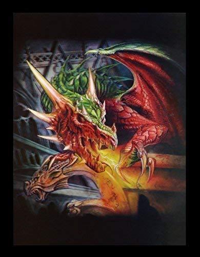 3D Bild mit Drache - Draco Basilica - Alchemy Gothic Poster Fantasy