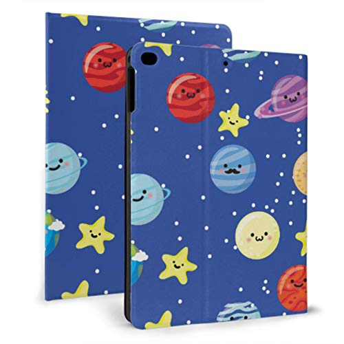 XiexHOME Cover For Mini Ipad Set Of Planets With Faces On Stars Ipad Covers For Girls For Ipad Mini 4/mini 5/2018 6th/2017 5th/air/air 2 With Auto Wake/sleep Magnetic Ipad Waterproof Case
