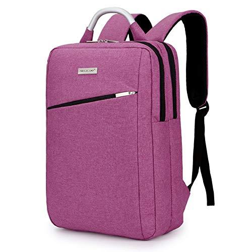NOBRAND Mochila 15.6 Pulgadas Bolso de la computadora de Gran Capacidad IBHT Hombro Bolsa de Caballero Mochila Mochila Coreana de Viajes de Negocios 1 (Color : Pink)