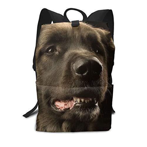 Mochila unisex para perro Leonberger Bozal Oscuro para estudiantes universitarios, bolsas de viaje para ordenador portátil, para la escuela, al aire libre