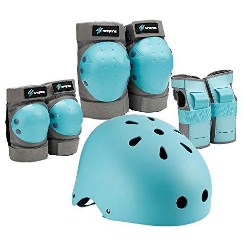 キッズプロテクター 子供 青少年 大人用 保護パッド 2色 ヘルメット、膝パッド、肘パッド、腕パッド 7点1セット 頭/手首/ひじ/ひざサポーター スケートボード、自転車、ローラースケートなどスポーツプロテクターセット 収納袋付き