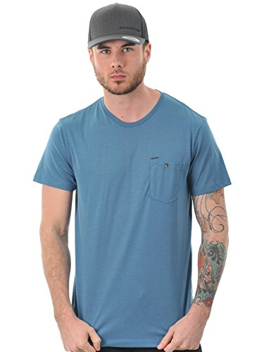 Oakley Icon Pocket Tee Shirt Homme, Chino Blue, FR : S (Taille Fabricant : S)