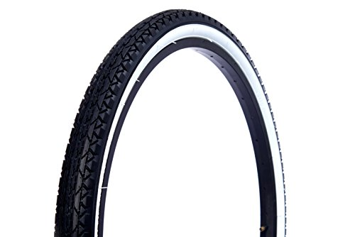 Wanda Beach Cruiser Tires, Black with White Wall, 26'/One Size