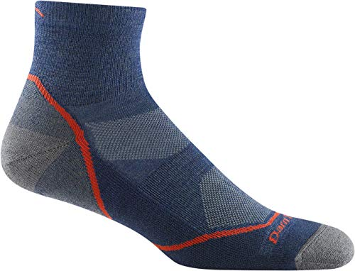 Darn Tough Style 1991 Mens 14 Sock Lightweight with Cushion Hike Trek Sock blue Large