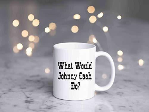 Johnny Cash Kaffeetasse/Country Music Lover/Country Music-Tasse/Musikliebhaber/Kaffeetasse/Kaffeetasse, 325 ml, Porzellantasse mit Henkel, mehrfarbig