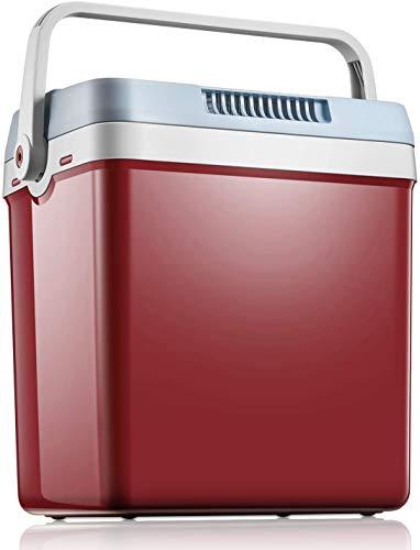 Kühlbox - Elektrische Kühlbox 12 Volt und 230 Volt für Auto und Zuhause, WÄRMT und KÜHLT Elektrische & 24L Thermo-Elektrische Mini-Kühlschrank mit Automatischer Griff, ECO-Modus