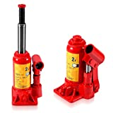 Martinetto Idraulico, Martinetto Idraulico per Auto di Sollevamento Resistente 2T, Martinetto Idraulico Portatile per Riparazione Auto (rosso)
