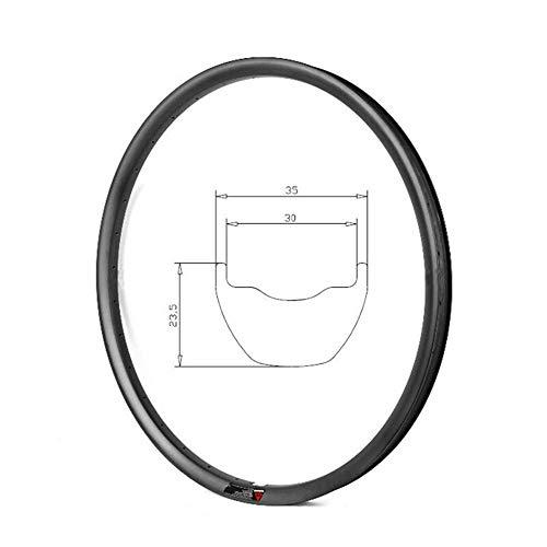 HULKWHEELS Carbon MTB Rims 27.5 inch 28/32Hole 650B Rim Carbon Rim Carbon Mountain Bike Disc Brake Rim 35mm Width 23mm Depth Tubeless AM Rim Carbon Bicycle Rim (28 Hole)