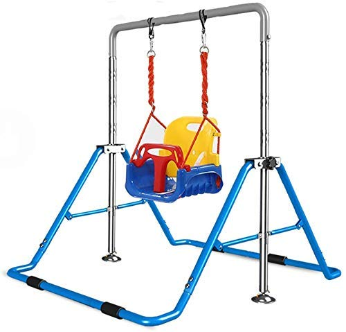 DBSCD Portable Adjustable Swing Set, Gymnastics Bar for Children, Indoor Sports Equipment, Suitable for Indoor and Outdoor Play Camping Schools