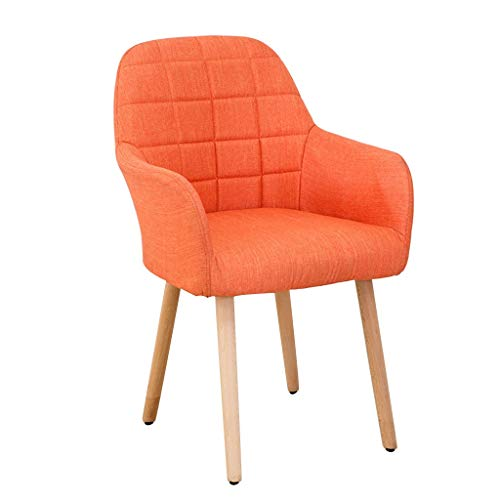 Esszimmerstühle, Küche, Esszimmerstühle, Freizeit-Schlafzimmer, Ehezimmer, Balkon, Clubhaus, Hotel, Massivholz-Stuhl, Küche (Farbe: Orange)