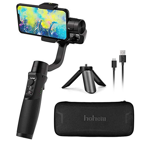 3-Axis Gimbal Stabilizer for Smartphone Gimbal for iPhone 12 11 Pro Max X XR XS, Handheld Phone Gimble w/Sport Inception Face Tracking Time-Lapse for Vlog Youtuber Video- Hohem iSteady Mobile Plus