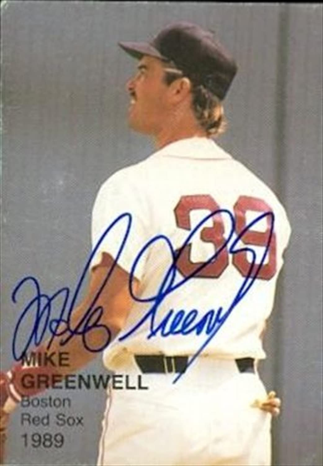 Mike Greenwell autographed Baseball Card (Boston Red Sox) 1989 Baseballs Best One  7  Autographed Baseball Cards