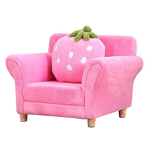 HYY-YY Contemporary Furniture niños Sillón Sofá tapizado de Muebles de la Sala de Estar Sofá (Color: Rosa, Tamaño: 48x55x67cm)
