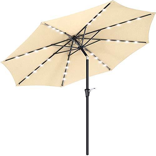 ZHANGLE Solarschirm, Marktterrassenschirm im Freien, mit freitragenden LED-Regenschirmen, geeignet für Gärten, Decks und Hinterhöfe,Burgundy,2X3 Meters Square