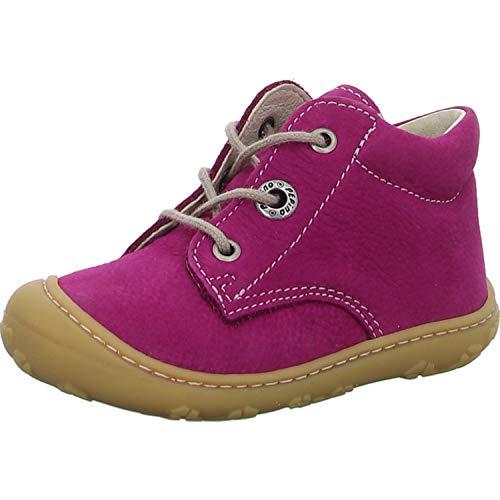 RICOSTA Pepino Mädchen Stiefel Cory, Weite: Mittel (WMS), Boots schnürstiefel Leder Kind-er junior Kleinkind-er Klett-Schuhe,pop,23 EU / 6 UK
