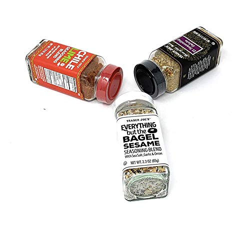 3 PACK - Trader Joe's Seasoning - 21 Salute Seasoning , Chile Lime and Everything but the bagel Seasoning