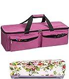 CACTIYE Carrying Bag Compatible with Cricut Explore Air and Maker, Waterproof Tote Bag Compatible with Cricut Explore Air and Supplies (pink, 1+1)