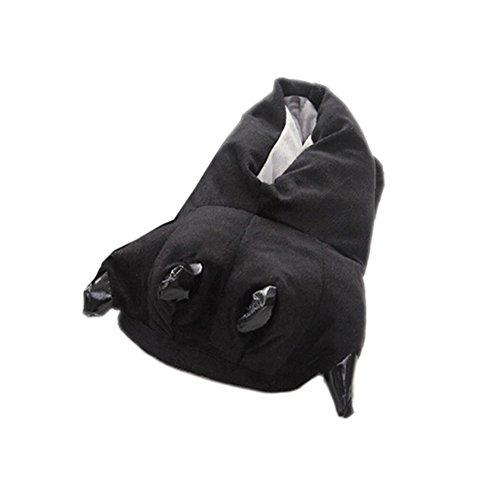 DELEY Unisex Cosplay Tier Kostüm Plüsch Home Hausschuhe Schlafanzug Schuhe Schwarz L