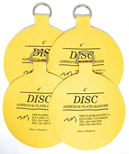 Invisible English Disc Adhesive Large Plate Hanger Set (4-4 Inch Hangers)